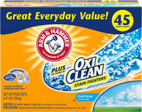 ARM & HAMMER™ Powder Laundry Detergent plus OxiClean™ Stain Fighters Fresh Scent
