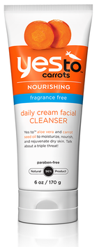 Yes To Carrots Fragrance Free Daily Cream Facial Cleanser