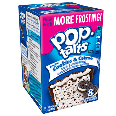 Kellogg's Pop-Tarts Frosted Cookies & Cream Toaster Pastries