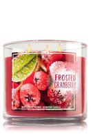 Bath & Body Works Frosted Cranberry 3 Wick Scented Candle