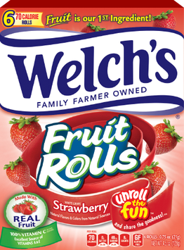 Welch's® Fruit Rolls White Grape Strawberry