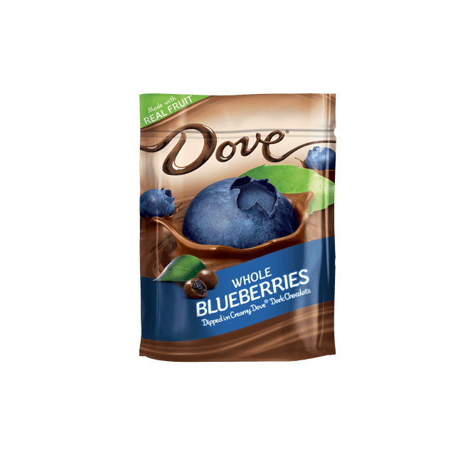 Dove Chocolate Real Blueberries Dipped In Silky Smooth Dove Dark Chocolate Stand Up Pouch