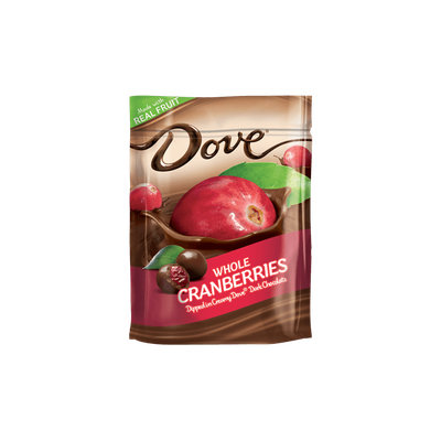 Dove Chocolate Real Cranberries Dipped In Silky Smooth Dove Dark Chocolate Stand Up Pouch