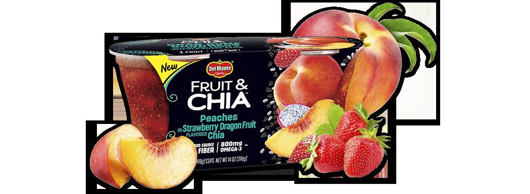 Del Monte® Fruit & Chia™ Peaches in Strawberry Dragon Fruit Flavored Chia