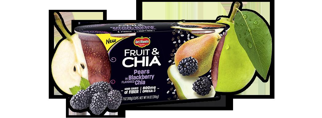 Del Monte® Fruit & Chia™ Pears in Blackberry Flavored Chia