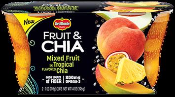 Del Monte® Fruit & Chia Mangos in Pineapple Flavored Chia