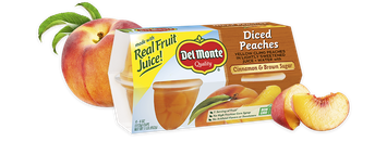 Del Monte® Peaches With Cinnamon & Brown Sugar, Fruit Cup® Snacks