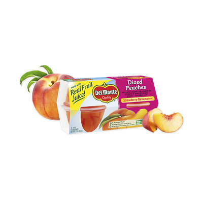 Del Monte® Peaches With Strawberry-Banana Flavor, Fruit Cup® Snacks