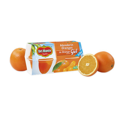 Del Monte® Mandarin Oranges in Orange Flavored Gel - Lite, Fruit Cup® Snacks
