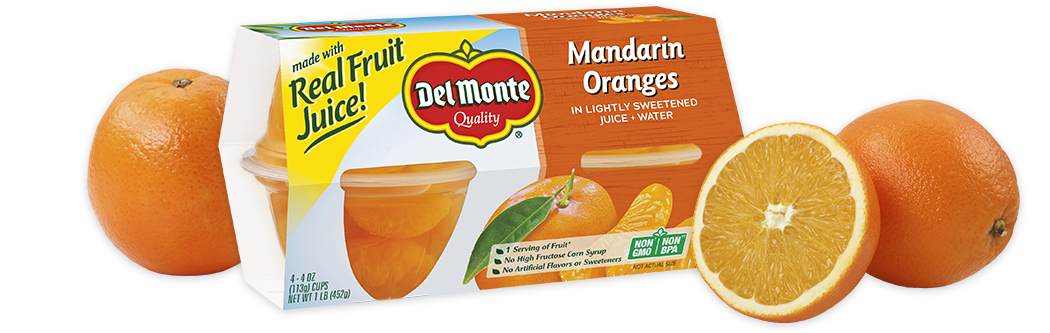 Del Monte® Mandarin Oranges, Fruit Cup® Snacks