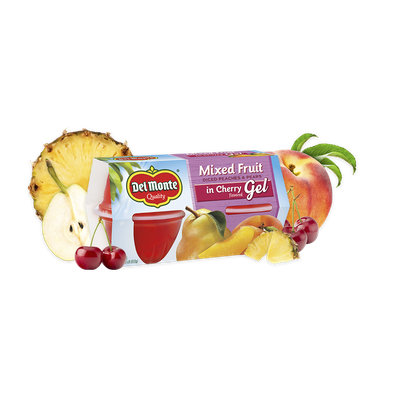 Del Monte® Mixed Fruit in Cherry Flavored Gel, Fruit Cup® Snacks