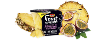Del Monte® Fruit Refreshers® Pineapple in Passion Fruit Flavored Slightly Sweetened Fruit Water