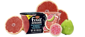 Del Monte® Fruit Refreshers® Red Grapefruit in Guava Flavored Slightly Sweetened Fruit Water