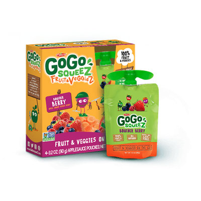 GoGo SQUEEZ BOULDER BERRY FRUIT & VEGGIEZ