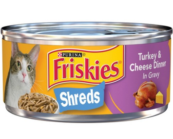 Friskies® Turkey & Cheese Dinner In Gravy Savory Shreds Cat Food