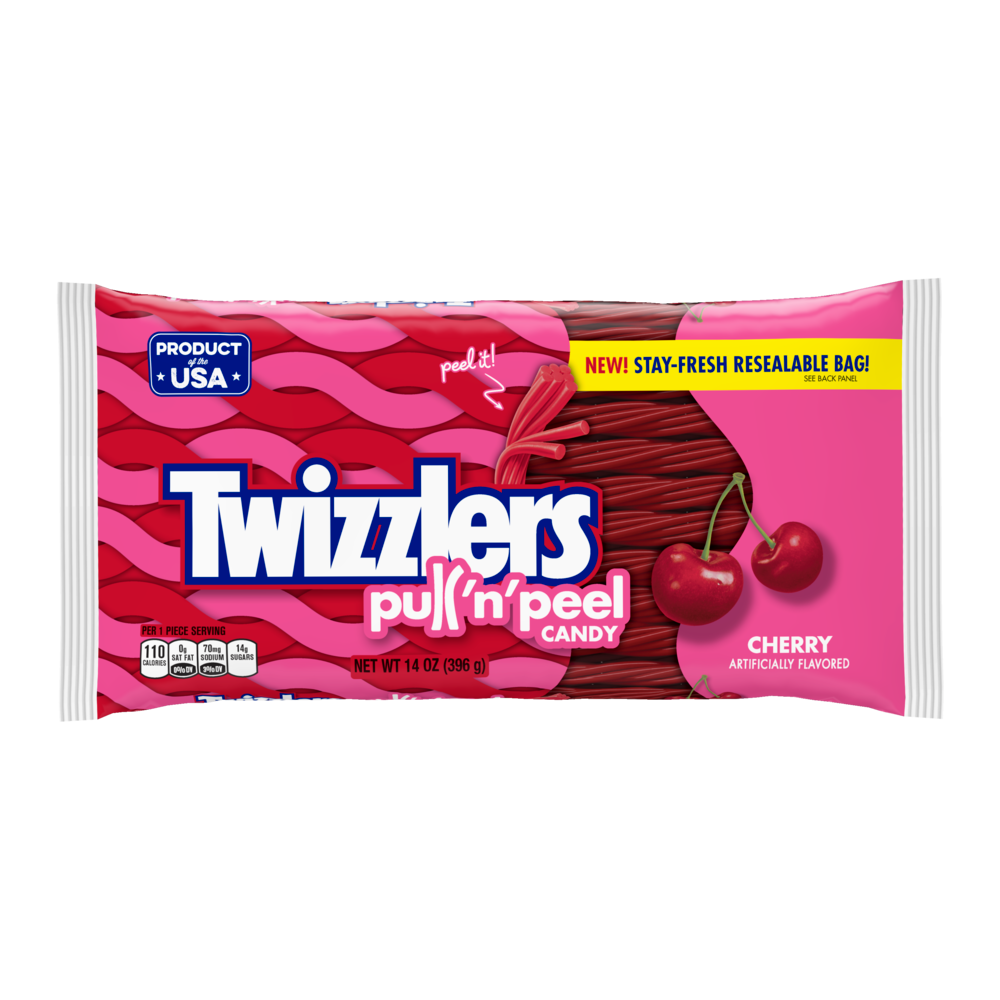 Twizzlers Pull 'n' Peel Candy Cherry Gummy Candy
