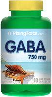 Piping Rock GABA 750mg 100 Capsules