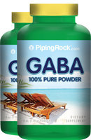 Piping Rock GABA Powder 2 Bottles x 6 oz