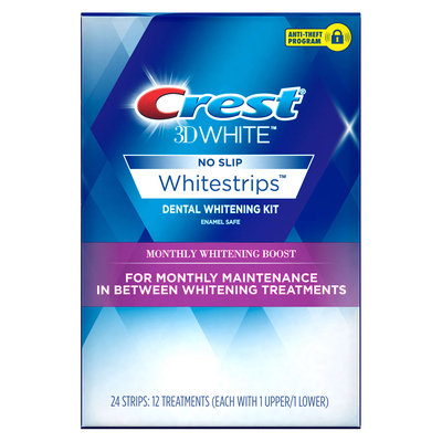 Crest 3D White Whitestrips Monthly Whitening Boost Teeth Whitening Kit