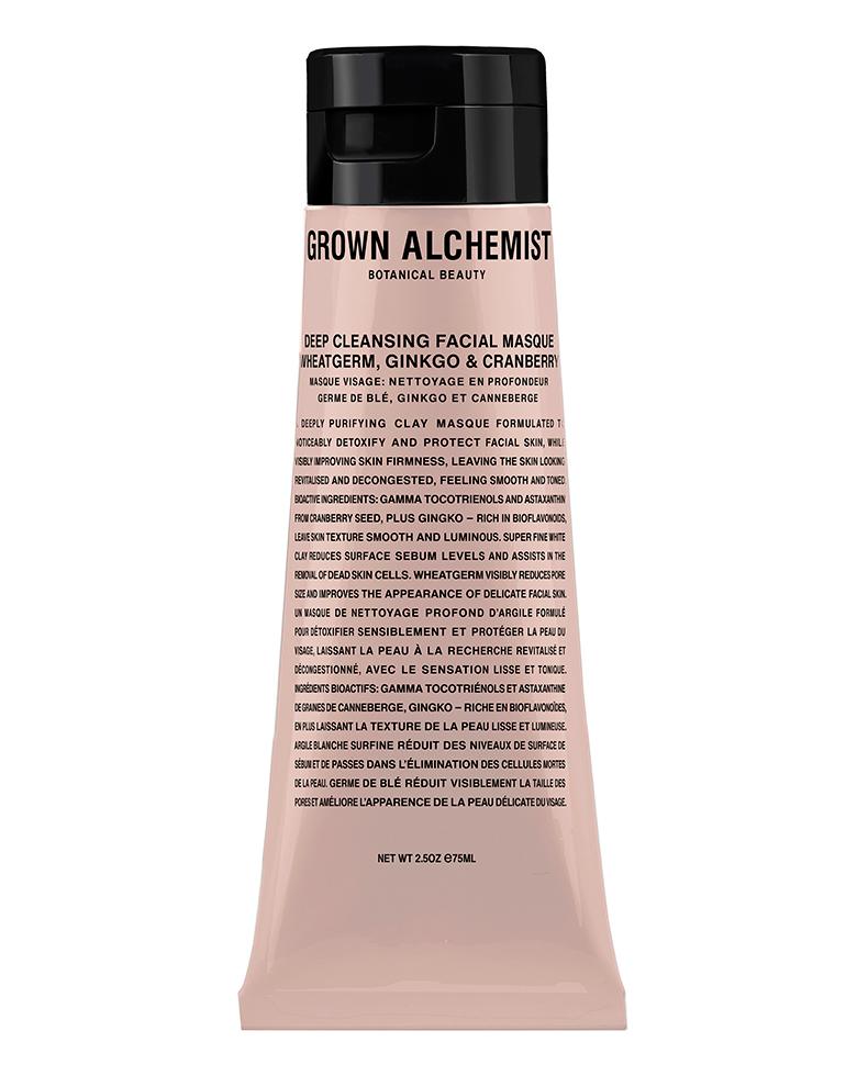 Grown Alchemist Deep Cleansing Masque: Wheatgerm, Ginkgo & Cranberry, 65ml