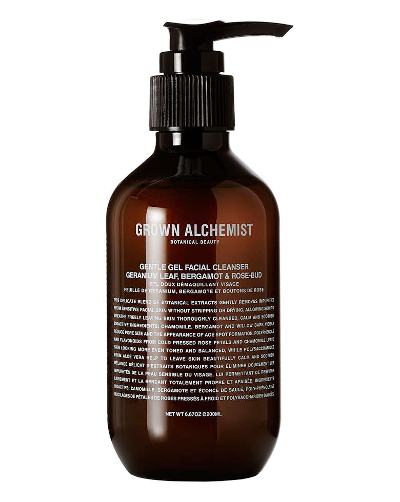 Grown Alchemist Gentle Gel Cleanser: Geranium, Bergamot & Rose Bud, 100ml