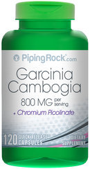 Piping Rock Garcinia Cambogia 400mg with Chromium Picolinate 120 Capsules