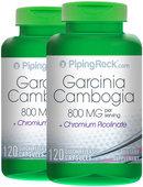 Piping Rock Garcinia Cambogia 400mg with Chromium Picolinate 2 x 120