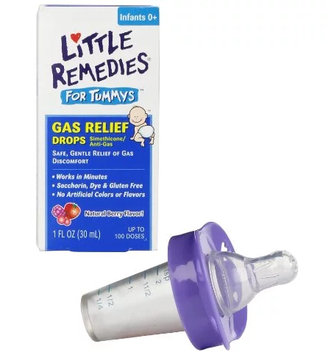 LITTLE REMEDIES® FOR TUMMYS GAS RELIEF DROPS NATURAL BERRY FLAVOR WITH PACIFIER MEDICINE DISPENSER