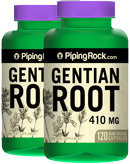 Piping Rock Gentian Root 410 mg 2 Bottles x 120 Capsules