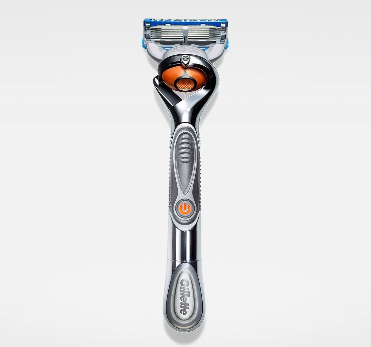 Gillette Fusion Proglide Silvertouch Power Razor With Flexball Technology
