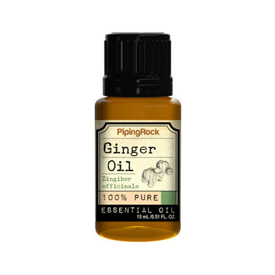 Piping Rock Ginger Root Essential Oil 1/2 oz 100% Pure Oil Therapeutic Grade
