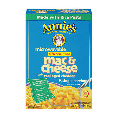 Annie's Homegrown Gluten-Free Macaroni & Cheese Real Aged Cheddar