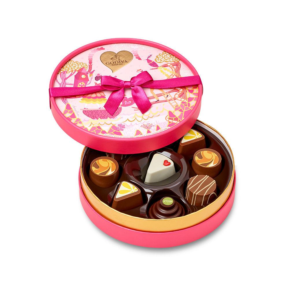 Godiva Valentine's Day Slices of Love Round Chocolate Gift Box