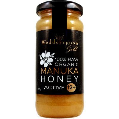 Wedderspoon 100% Raw Organic Manuka Honey Active 12+ - 11.5 oz