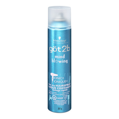 göt2b Ionic+ Mind Blowing Fast Dry Hairspray, Extra Dry Finish