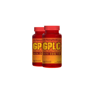 Piping Rocl GPLC GlycoCarn Propionyl-L-Carnitine HCl with CoQ10 2 Bottles x 60 Capsules