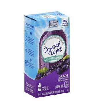 Crystal Light with Caffeine Grape On the Go Drink Mix