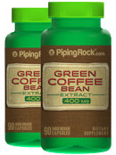 Piping Rock Green Coffee Bean 400mg Extract 2 Bottles x 90 Capsules