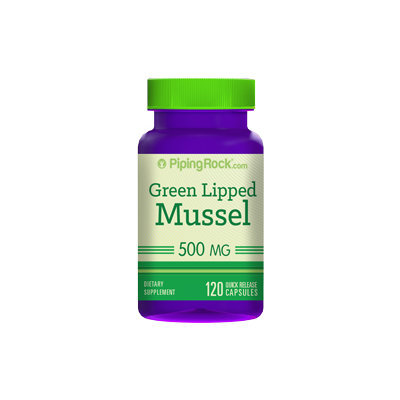 Piping Rock Green Lipped Mussel 500 mg 2 Bottles x 60 Capsules