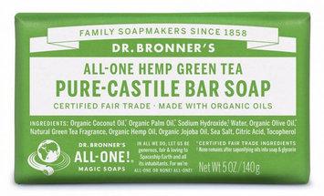 Dr. Bronner's All-One Hemp Green Tea Pure - Castile Bar Soap