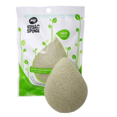 My Konjac Sponge - All Natural Konjac Face Sponge with Added French Green Clay