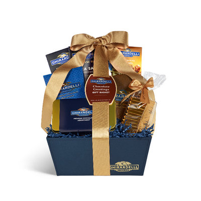 Ghirardelli Chocolate Greetings Gift Basket
