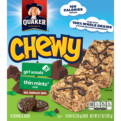 Quaker Life® Chewy Girl Scouts Granola Bars Thin Mint