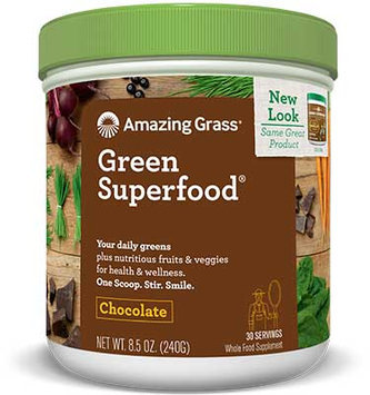 Amazing Grass Green SuperFood Drink Powder Chocolate