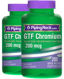 Piping Rock GTF Chromium 200 mcg 2 Bottles x 200 Capsules