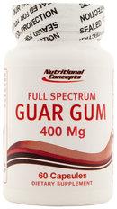 Nutritional Concepts Guar Gum 400mg 60 Capsules