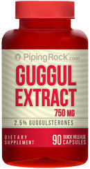 Piping Rock Guggul Extract 750mg 90 Capsules (Guggulsterones)