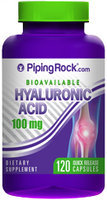 Piping Rock Hyaluronic Acid 100mg 120 Capsules