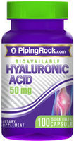 Piping Rock Hyaluronic Acid 50mg 100 Capsules