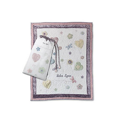 Things Remembered Personalized Butterfly & Flowers Quilt